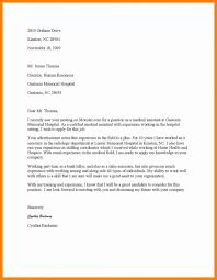 Cover Letter Medical Assistant Entry Level Cover Letter Medical Assistant New Letters Examples Hospital