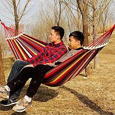 PAMIRATE-Cotton Striped Foldable Hammock (for Single Person ...