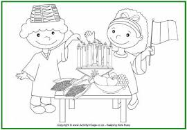 Kwanzaa Colouring Pages