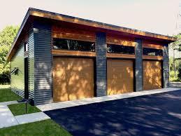 Contemporary Detached Garage Designs Modern 3 Car Garage Plan Front Modern Garage Garage House