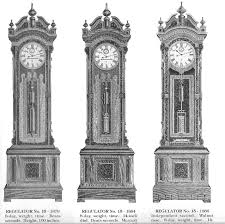early seth thomas grandfather clocks regulators with mercury pendulums catalog 3 clock models