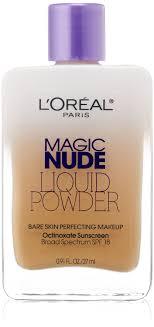amazon l oreal paris magic liquid powder bare skin perfecting makeup spf 18 natural beige 0 91 ounces foundation makeup beauty