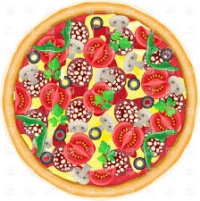 whole pizza clipart.  Clipart Whole Pie Pizza Top View Vector Image U2013 Artwork Of Food And  Beverages  Konturvid Click To Zoom In Pizza Clipart R