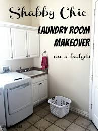 shabby chic laundry room makeover on a