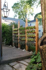 Living Privacy Fence Herb Fence With Carved Tops Ours Will Be Three Posts Wide 4x4s