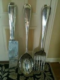 17 best images about forks spoons on pinterest kitchenware giant fork and spoon wall decor 10 fun spoon and fork wall decor for creative kitchen  on giant knife fork and spoon wall art with giant silverware pier one i had to make two trips to get a fork
