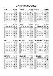 calendario 2022 calendarios su