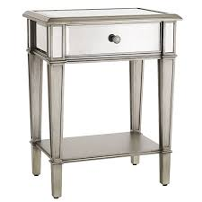 hayworth mirrored silver nightstand  pier  imports