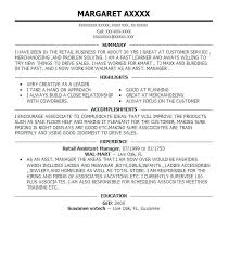 Resume Examples For Kmart Best Retail Assistant Manager Resume