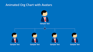 Powerpoint Chart Animation Animated Org Chart Powerpoint Template