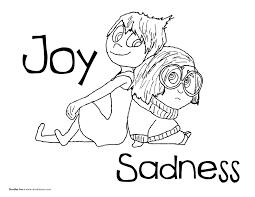 Small Picture Inside Out coloring sheets Joy and Sadness pixar inside out