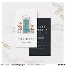 Business Card Examples For Interior Designers Blue Door Home Staging Or Interior Design Business Card
