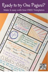 One Pagers The Simplest Way To Success Middle School