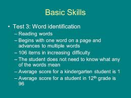 Word Test 3 Woodcock Reading Mastery Test Revised Ppt Video Online Download