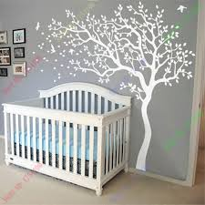 huge white tree wall decal nursery tree and birds wall art baby kids room wall sticker on tree wall art baby nursery with huge white tree wall decal nursery tree and birds wall art baby kids