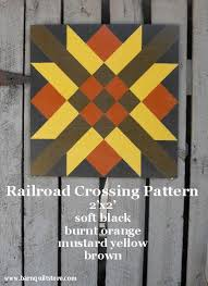 Painted Wood Barn Quilt Railroad Crossing by TheBarnQuiltStore ... & Barn Quilt, Railroad Crossing Pattern ( I would change colors to be  brighter.red, gold, etc. Adamdwight.com