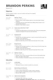 Resume Examples For Military Classy Military Police Resume Samples VisualCV Resume Samples Database