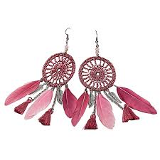 Dream Catcher Earings New Buy Generic Shioakp New Bohemia Feather Beads Long Design Dream