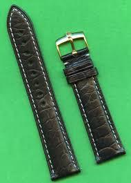 details about genuine rolex gold buckle black gen alligator strap band 20mm leather lined