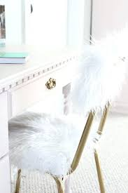 white fur vanity chair fur desk chair one room challenge week 5 less than perfect vanity beauty white faux fur vanity stool