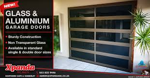 come see xpanda s new product release the glass aluminium garage doors features sy construction non transpa glass