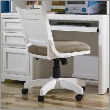 white desk chair roll