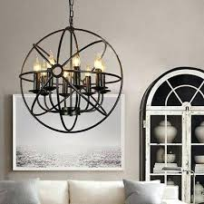 metal orb chandelier metal orb chandelier globe light sphere hanging fixture ceiling dining round new large