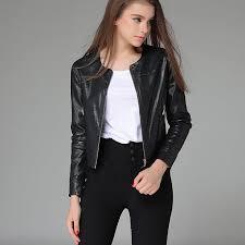china oem europe style black leather motorcycle jacket for women china jacket women jacket