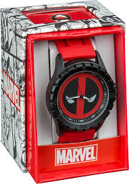 Deadpool Logo Rubber Strap Watch | Accutime Deadpool Watch | Popcultcha