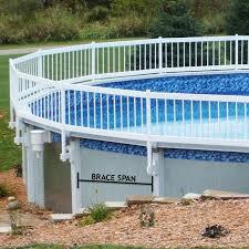 sentry safety premium guard above ground pool fence 08 brace spans wdbdistributing com