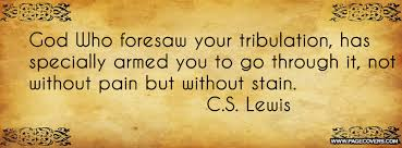 Cs Lewis Quote About Friendship CSLewis quote God Who foresaw your tribulation has armed you 66