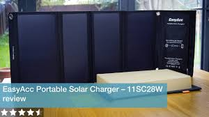 EasyAcc <b>Portable Solar Charger</b> review - model 11SC28W - YouTube