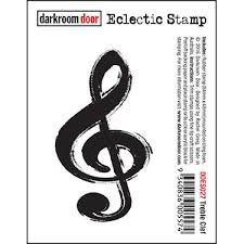 treblecleff eclectic stamp treble clef