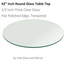 glass table top 42 inch round 12 inch thick flat polished