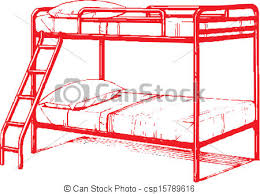 bunk beds clipart. Wonderful Bunk Bunk Bed  Csp15789616 Intended Beds Clipart