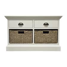 holywell 2 drawer 2 wicker basket