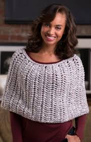 Knit Poncho Pattern Extraordinary Honeycomb Knit Poncho Pattern AllFreeKnitting