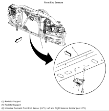 2005 silverado airbag sensor 2 location best model bag 2016 chevrolet silverado 2500 b0103 electronic front end sensor
