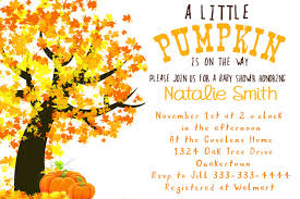 Fall Invitation Gender Neutral Baby Shower Invitation Fall Little Pumpkin Baby Shower Invitation