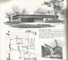 Small Picture Vintage House Plans Mid Century Homes large homes Mid century