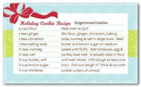 Christmas Recipe Card Printable Cookie Exchange Recipe Card Template