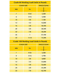 Chain Sling Chart Chain Slings Archives Carter Lifting