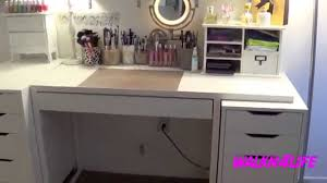 makeup organizer drawers walmart. vanity table ikea | white stool makeup desk with lights organizer drawers walmart
