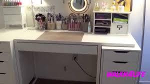 makeup organizer drawers walmart. vanity table ikea   white stool makeup desk with lights organizer drawers walmart