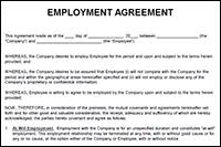 This document provides for a simple employment agreement between an employer and employee, where employment is not on either a zero hours, or fixed term basis. Employment Agreement Template