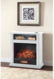 infrared electric fireplace rolling mantel in white duraflame 20 inch insert log set