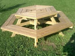 25 best ideas about wooden picnic tables on