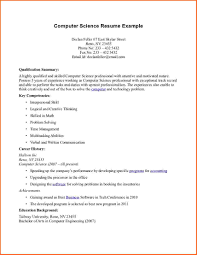 Computer Science Resume Sample Resume Templates