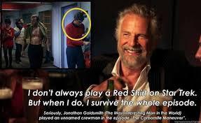 Image result for redshirt star trek meme
