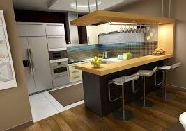 ... Interactive Furniture For Kitchen Design And Decoration Using Small  Kitchen Bar Table : Cozy Image Of ...